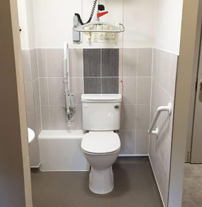 Disabled toilet installation