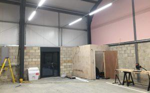 Warehouse office installation