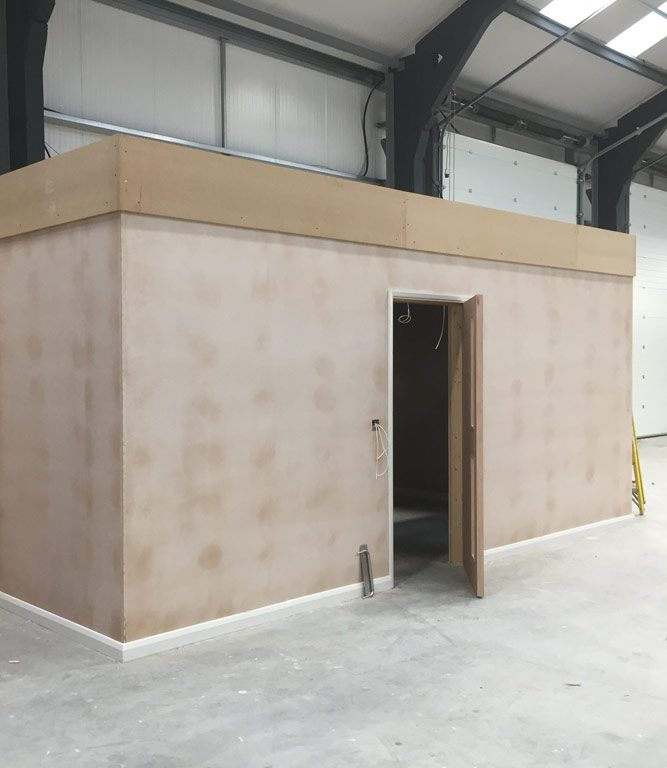 Warehouse office installation